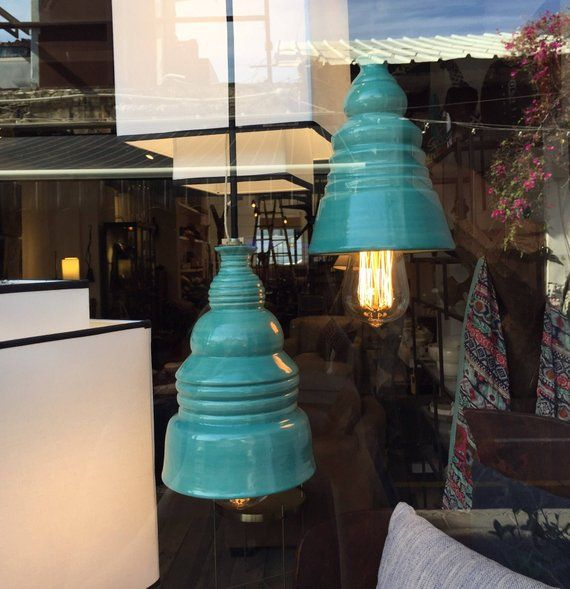 Turquoise Lamp Bedroom Fixture