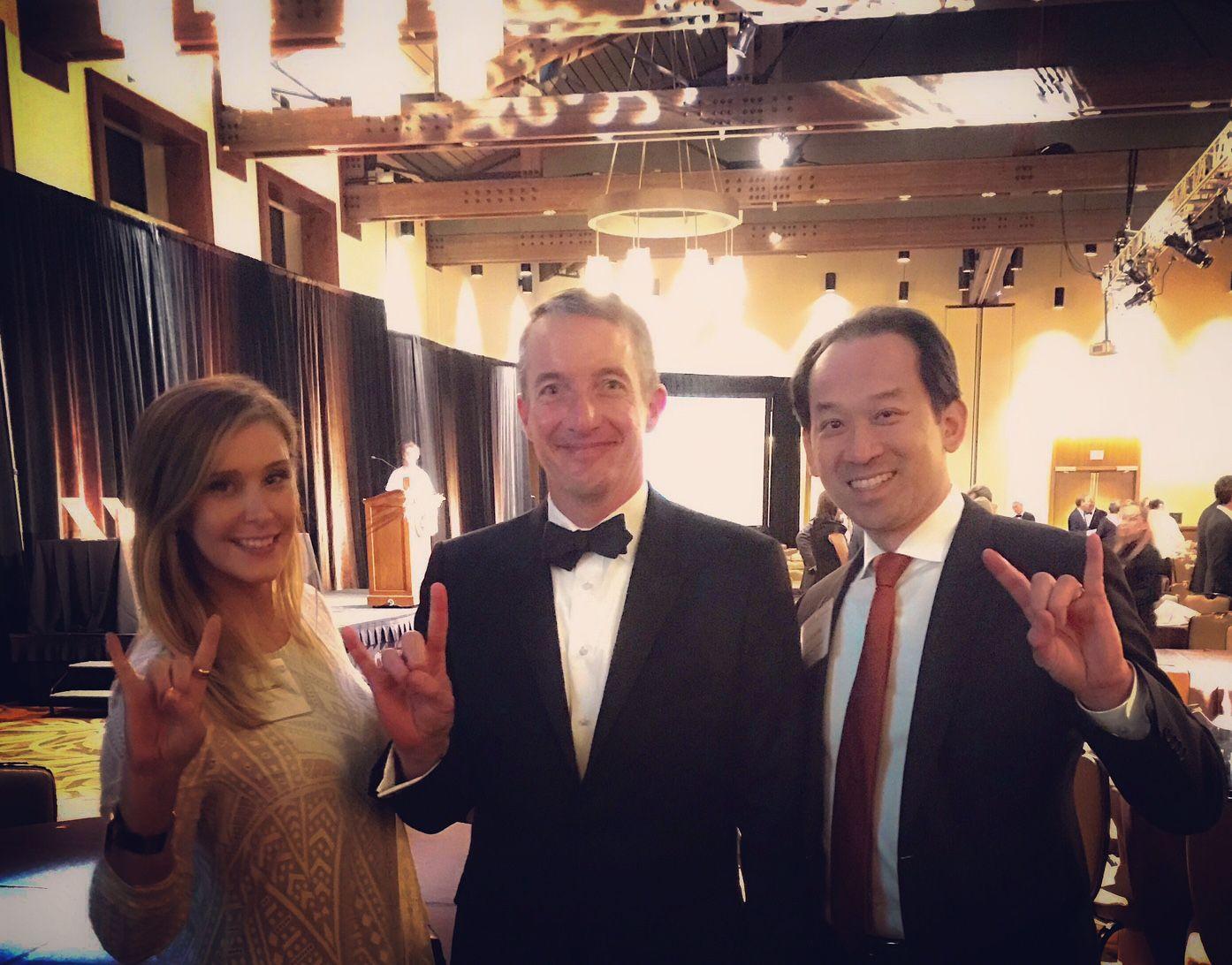 Ashley Loney Bba 06 Dean Jay Hartzell And Andrew Phong Vo Bba 95 Texas Alumni School