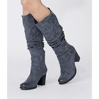 Buy 'yeswalker – Ruched Faux Leather Boots' at YesStyle.com plus more Hong Kong items and get Free International Shipping on qualifying orders.