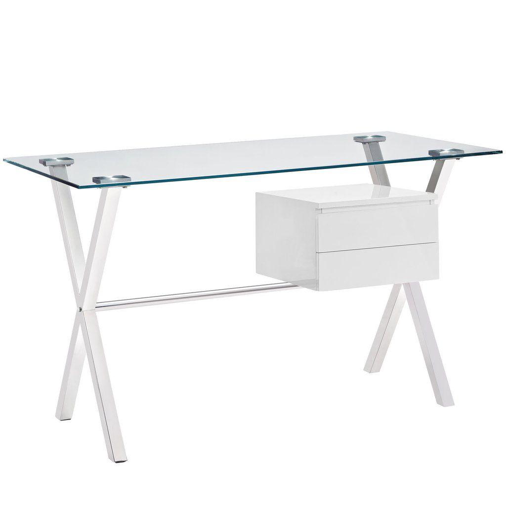 Glas Schreibtisch mit Schubladen, home office Möbel set | Büromöbel ...