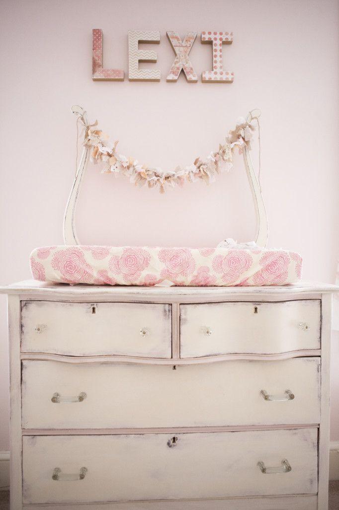 Diy Vintage Ruffle Nursery Chalk Paint Dresser