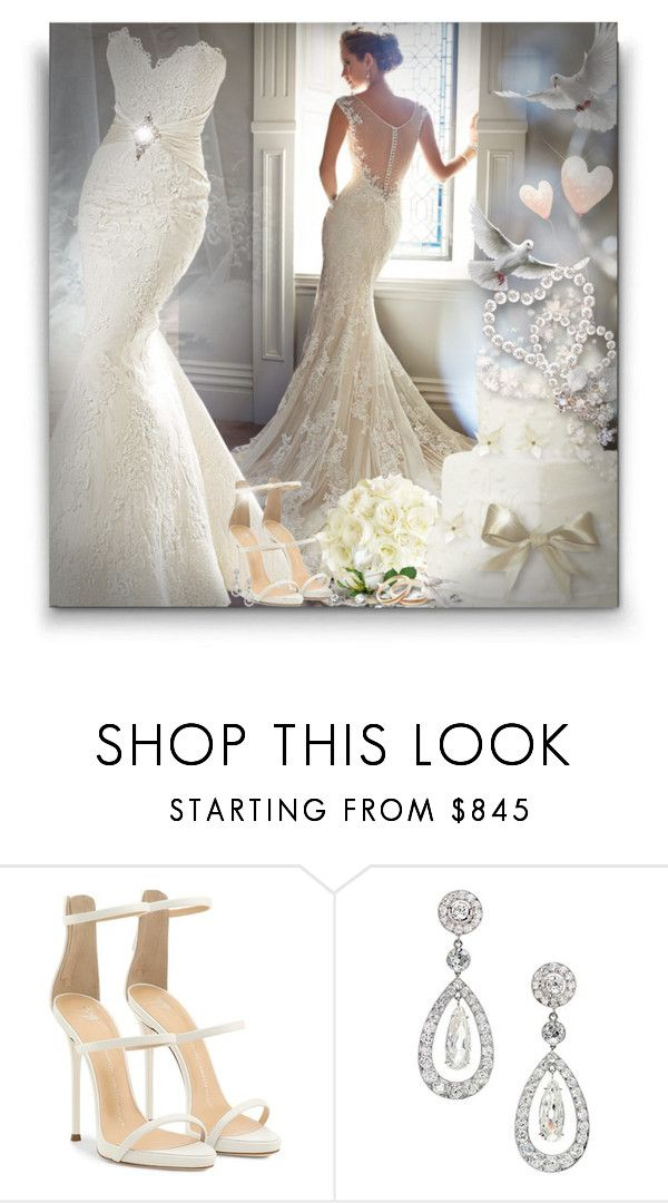 """Bride!"" by asia-12 ❤ liked on Polyvore featuring Giuseppe Zanotti"