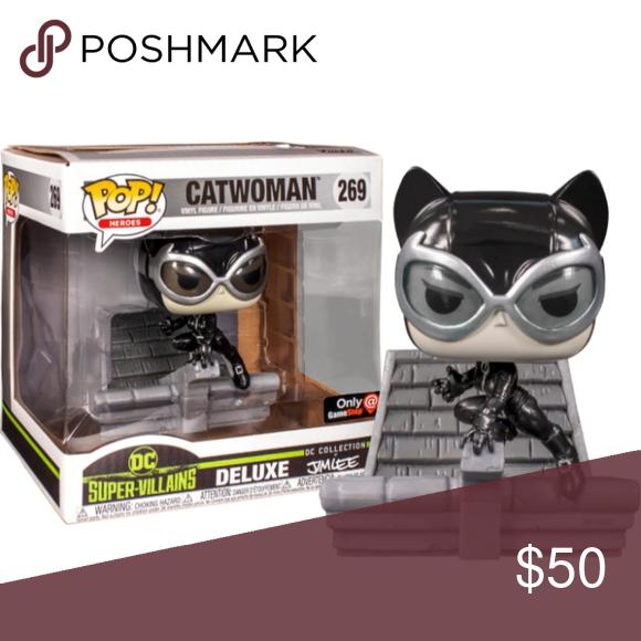Funko Pop DC Super Villains Catwoman Deluxe Hush Jim Lee Exclusive Vinyl Figure