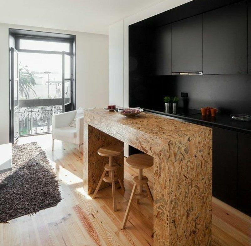 OSB Platten Idee - Eine Kücheninsel und Theke | kitchen design ...
