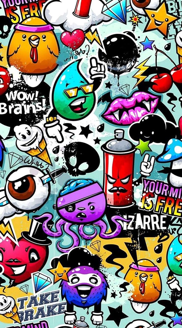 Graffiti Phone Backgrounds is the best highresolution