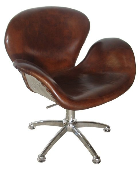 Brown Leather Office Chair From Noir Furniture Mobiliario Y Sillas De Oficina Stuhle