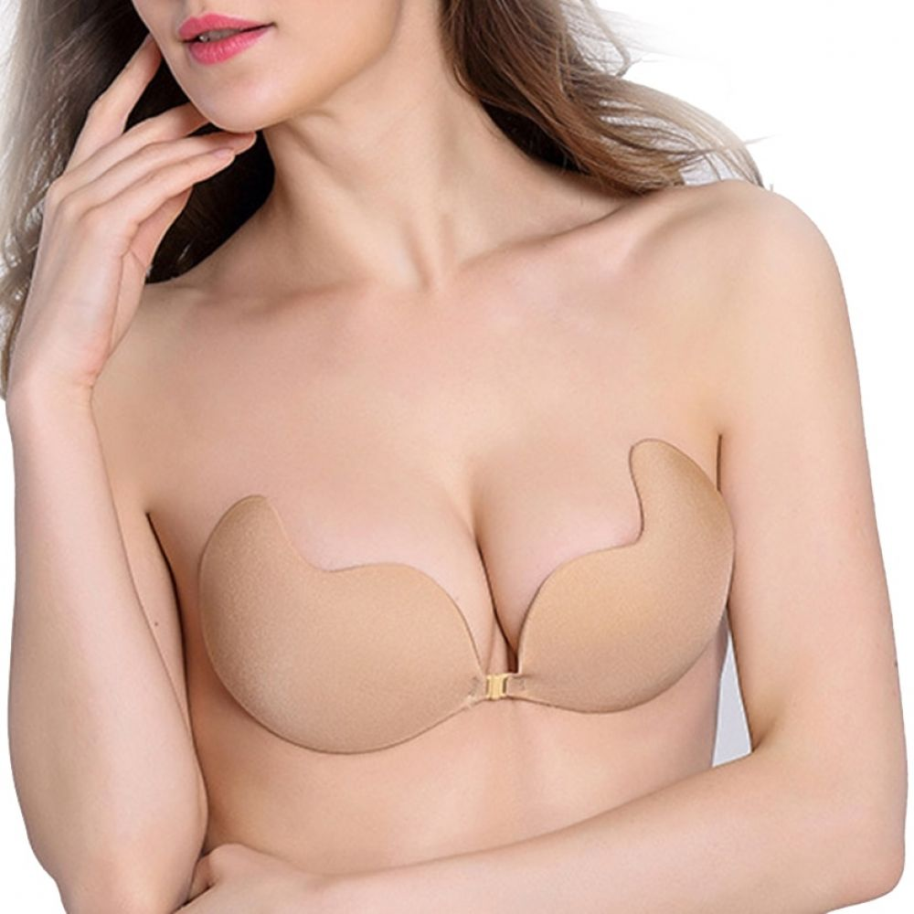 6fb0840bd5d5f Fly Bra Strapless Silicone Push Up Invisible Bra Self Adhesive Backless  Bralette Plus Size Seamless Bras Women Intimates A B C D Price  10.99    FREE ...