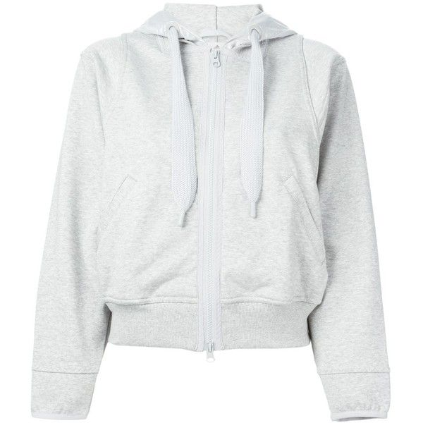 e4c7ce173219 Adidas By Stella Mccartney cropped hooded sweatshirt (515 ILS) ❤ liked on  Polyvore featuring tops