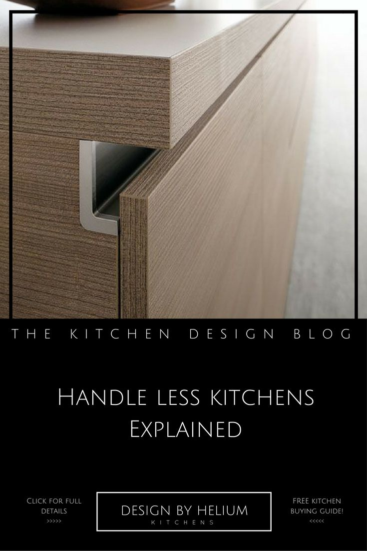 Design By Helium | The Kitchen Design Blog Explains The Basics On Handle  Less Kitchens.