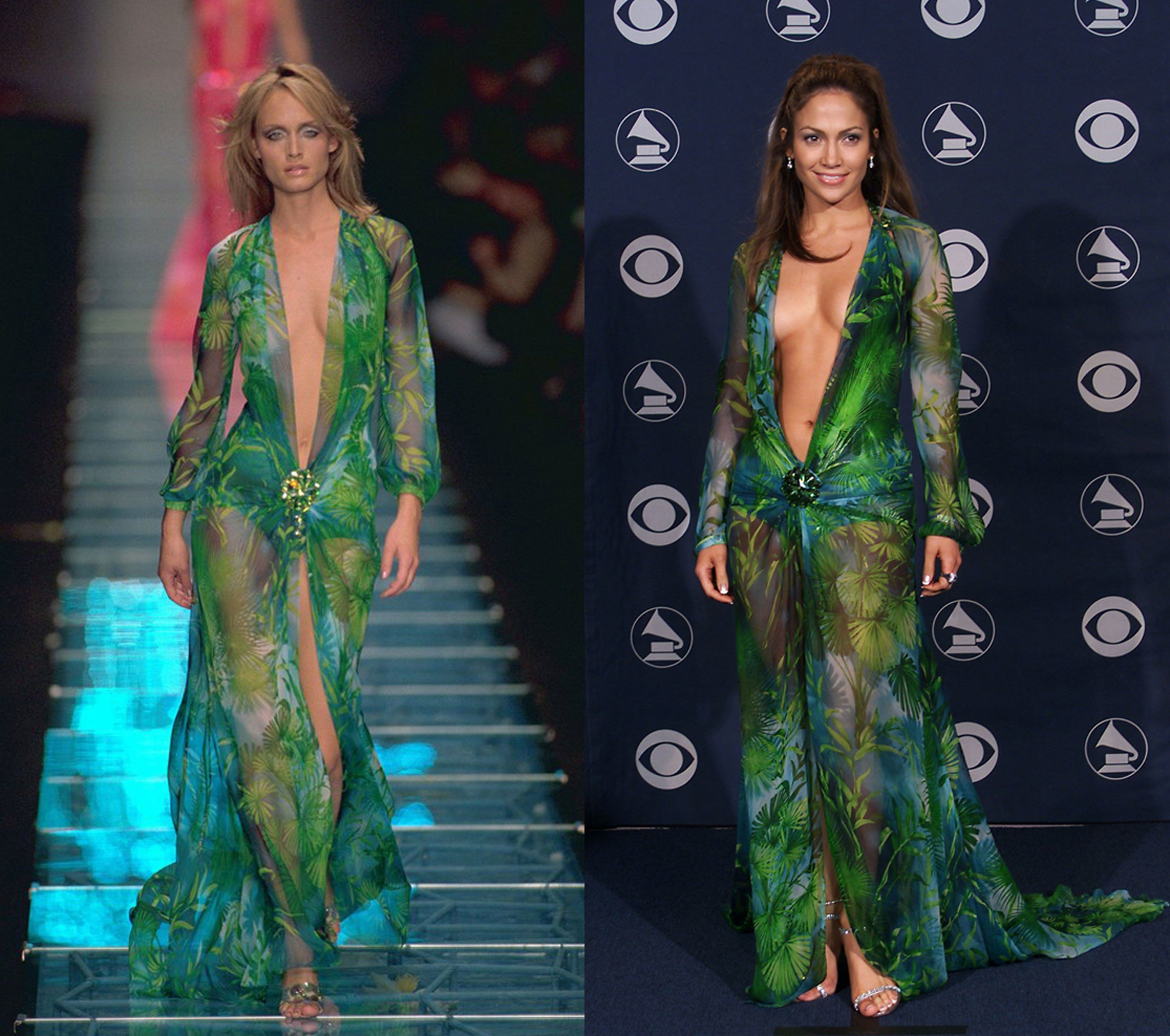 Donatella Versace S Recipe For Pre Fall Perfection Combine Amber Valletta Jlo And Jim Dine Remix Serve Hot Grammy Dresses Fashion Formal Dresses Long [ 2658 x 3000 Pixel ]