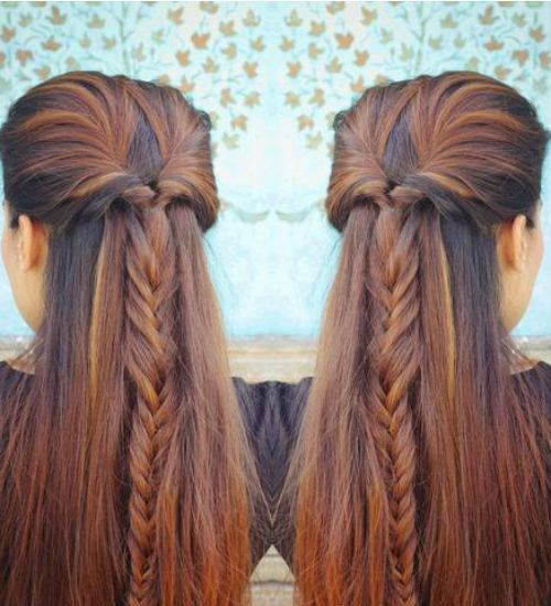 Cute Easy Hairstyles For Long Hair To Do At Home In 2020 Easy Hairstyles Mom Hairstyles Easy Hairstyles For Long Hair