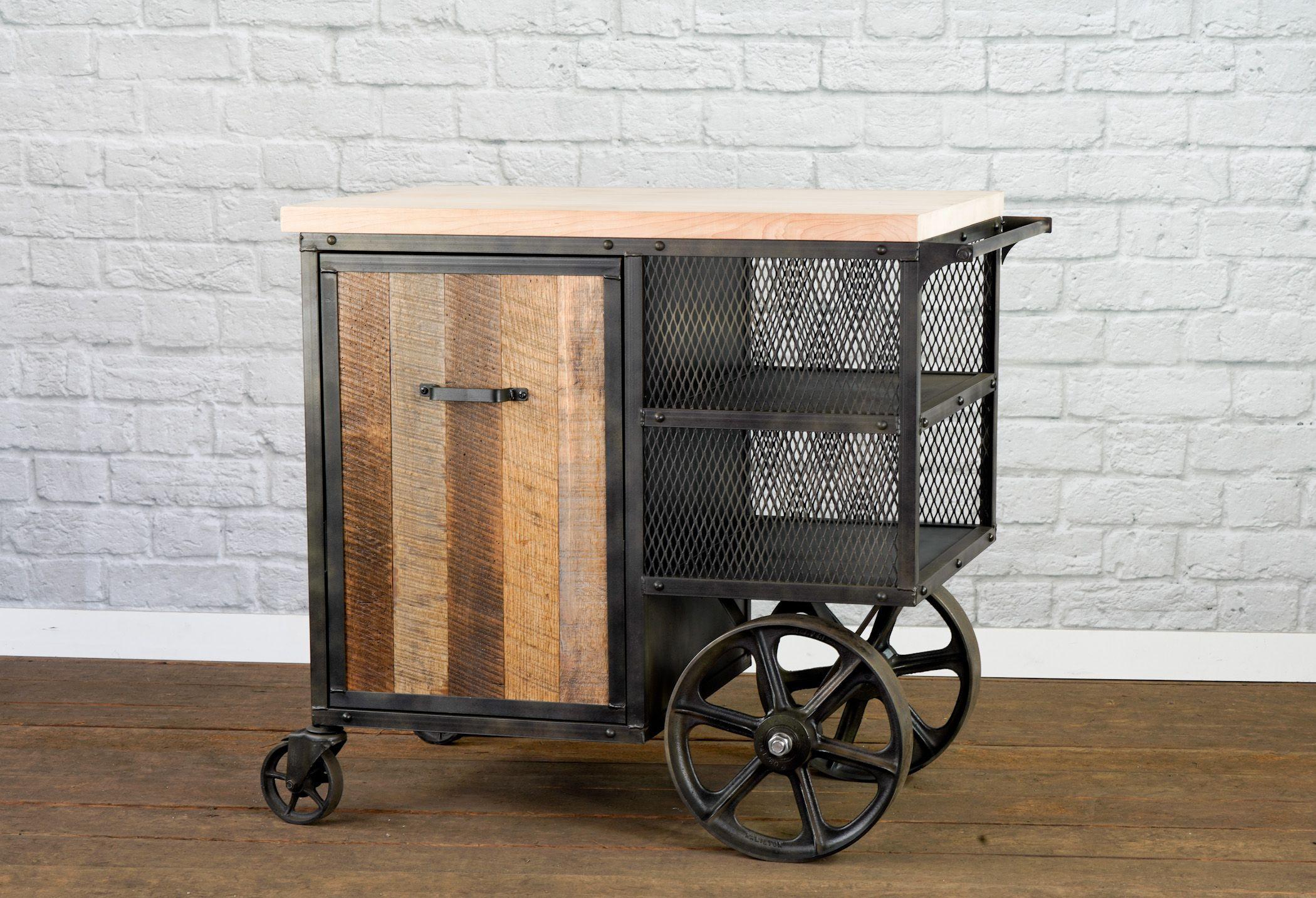 kitchen island modern bar cart service cart reclaimed wood kitchen island reclaimed wood on kitchen island ideas kitchen bar carts id=55998
