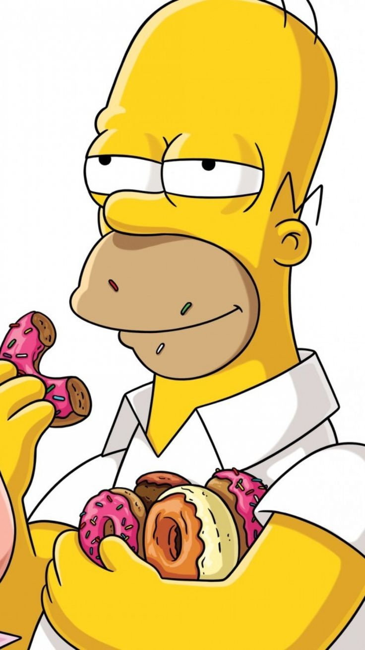 Homer Simpson Eating Donuts : homer, simpson, eating, donuts, Homer, Simpson, Eating, Donuts, Lock-screen, Phone, Wallpaper, Background, #homer, Homer..., #Background, #Bac…, Simpsons, Drawings,, Iphone,