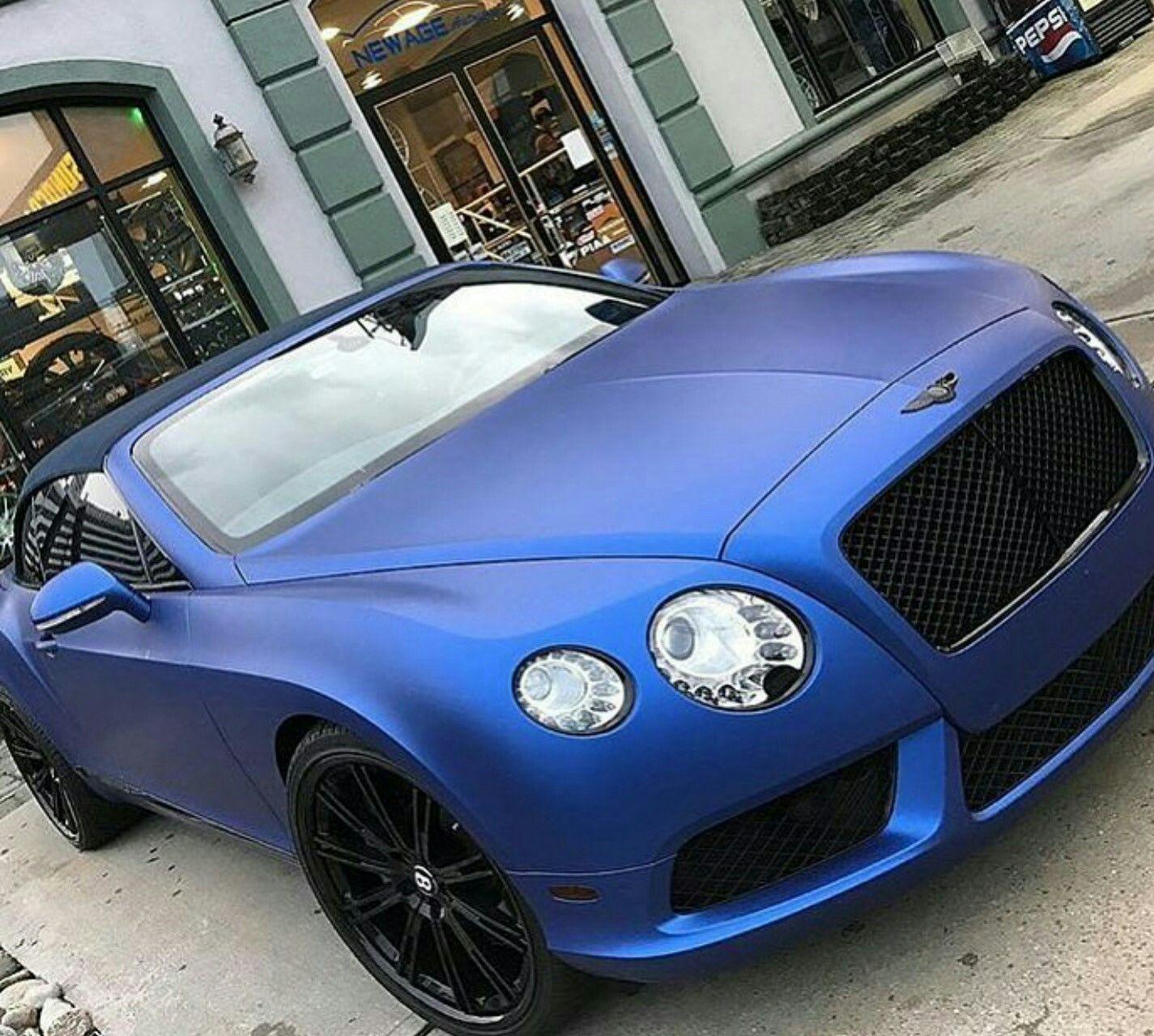 Bentley Continental Gt In Matte Blue Bentley Continental Gt Bentley Car Matte Cars
