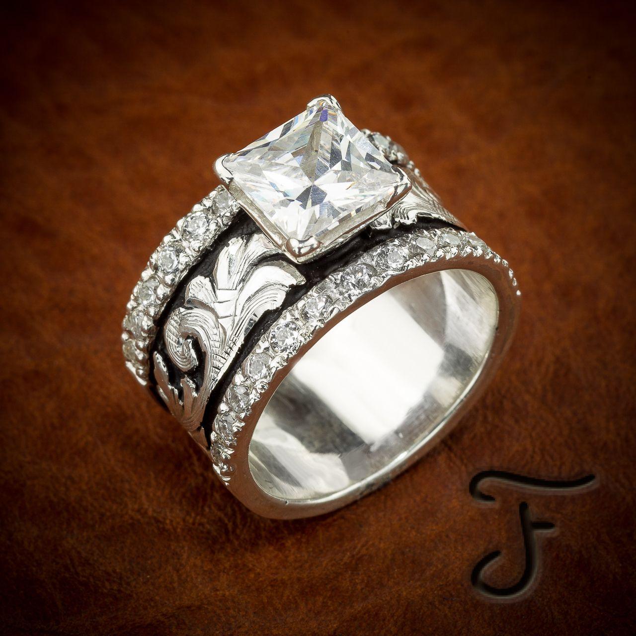 R 27sb Western Wedding Rings Western Rings Artisan Jewelry