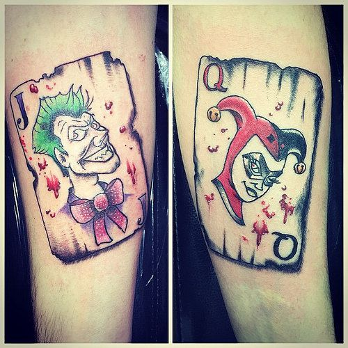 Matching Joker And Harley Tattoo: Pin By Go To Harley Quinn With Joker On Harley Quinn And
