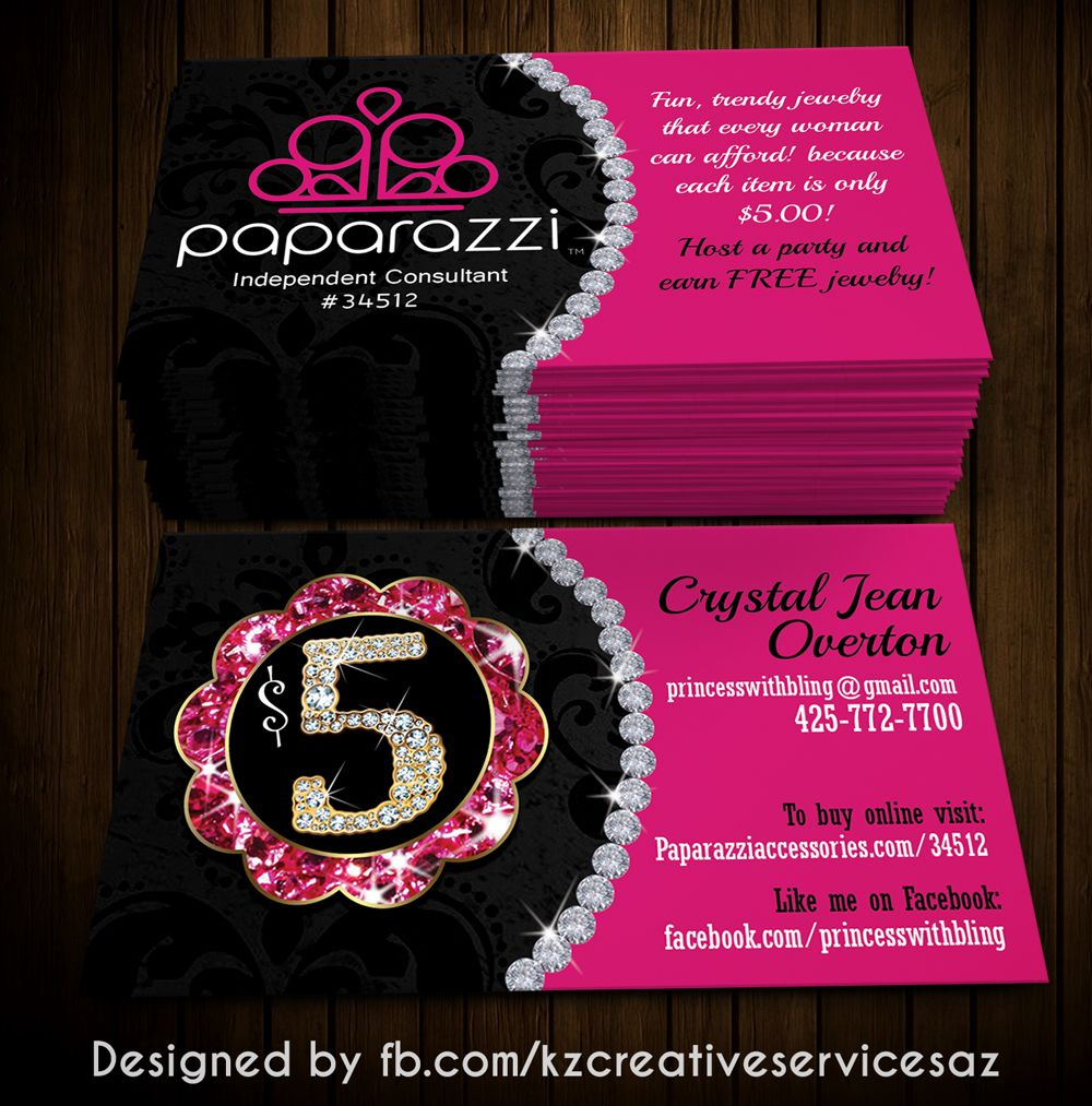 Paparazzi Business Cards style 3 · KZ Creative Services