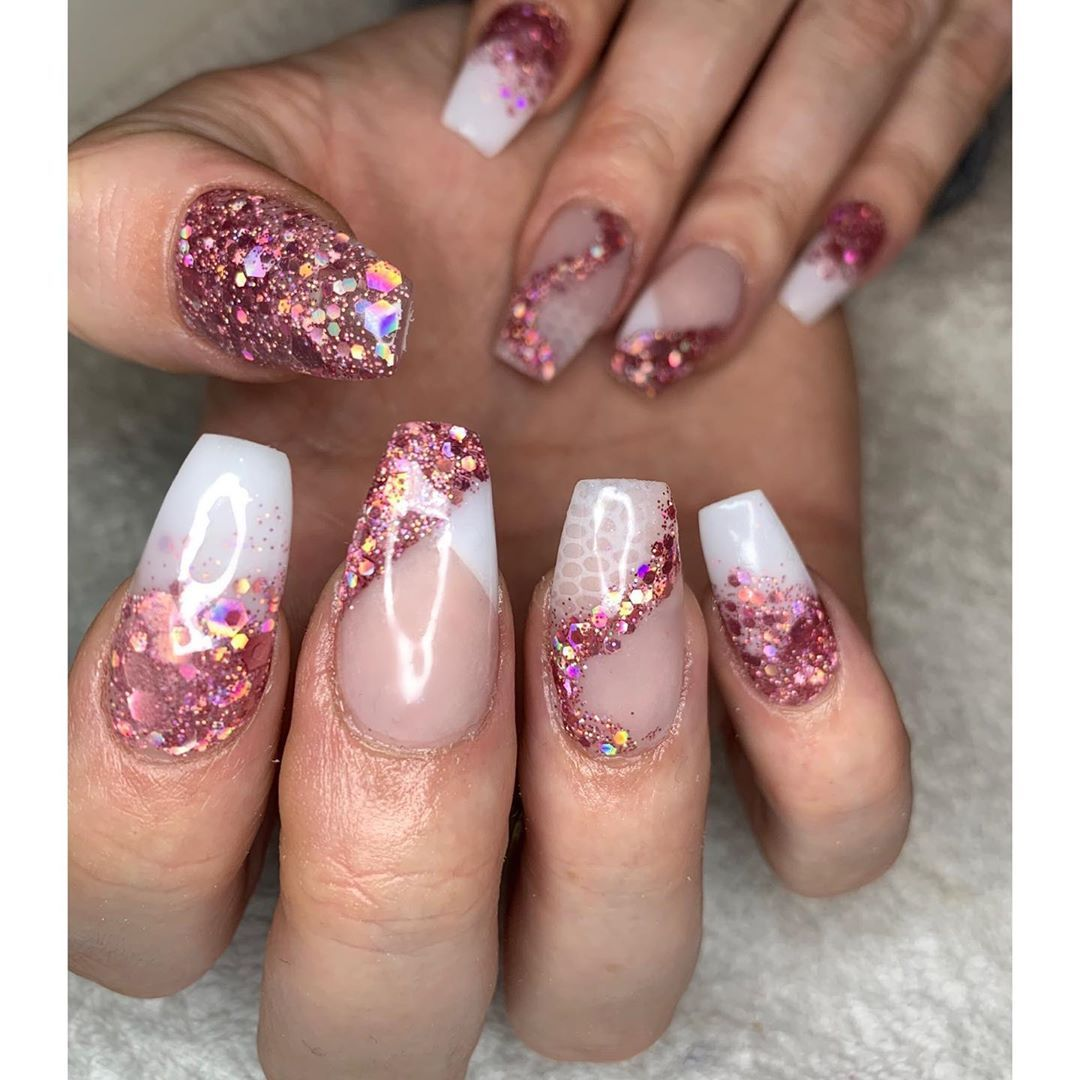 Setting Myself Different Challenges Everyday Using Glitterbels Show Stopper Sugared Almond I Am Superrrr Proud Of T In 2020 Acrylic Designs Nails On Fleek Nails