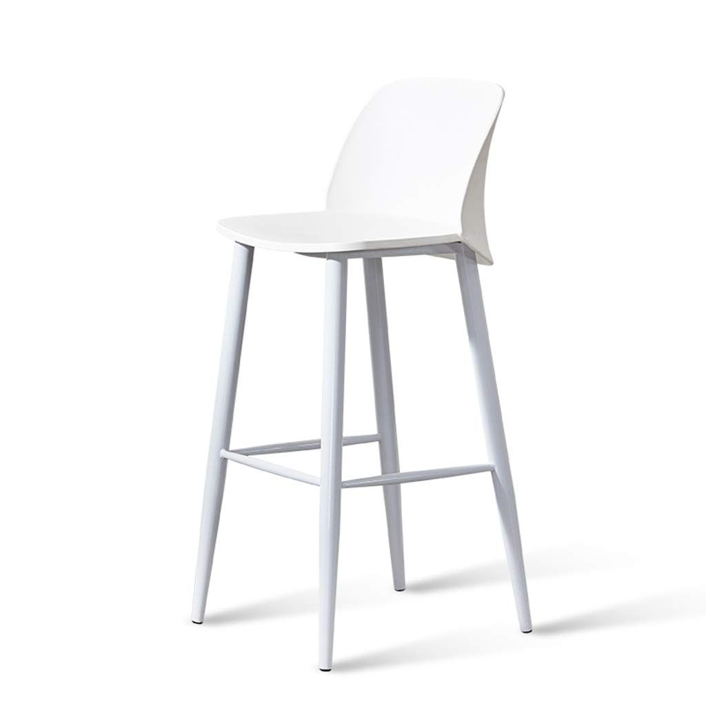 Jhome Barstools Nordic Bar Stool White Minimalist Style Metal Legs Design Kitchen Restaurant Bar Stool Chair W Bar Stools Restaurant Bar Stools Tall Bar Stools