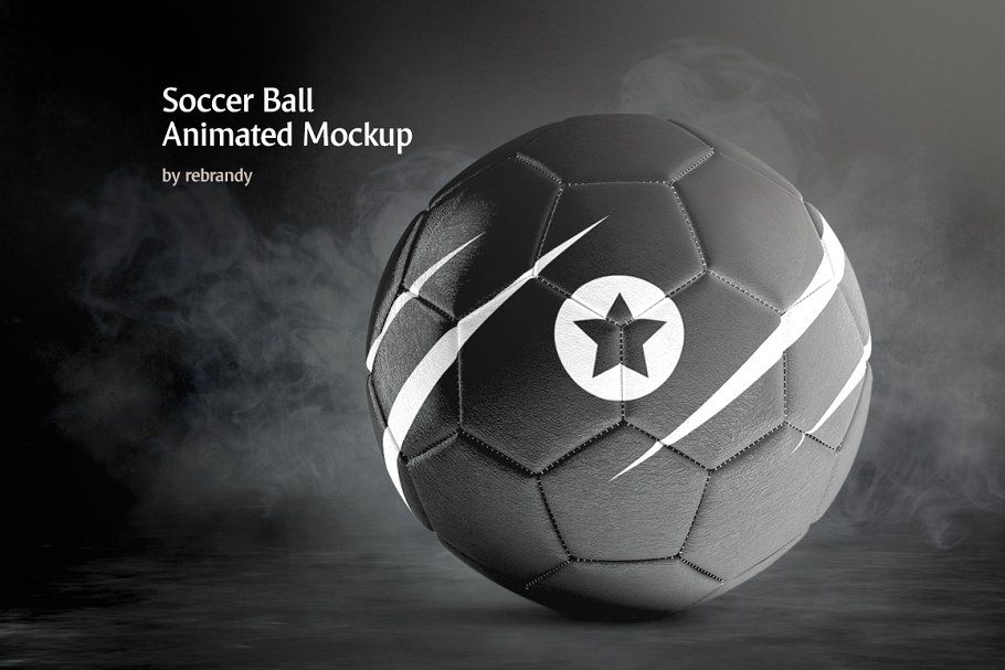Soccer Ball Animated Mockup In 2020 Animation Types Colorful Backgrounds Soccer Ball
