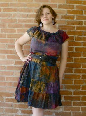 Skirt to dress tutorial... I have several skirts I could do this with.