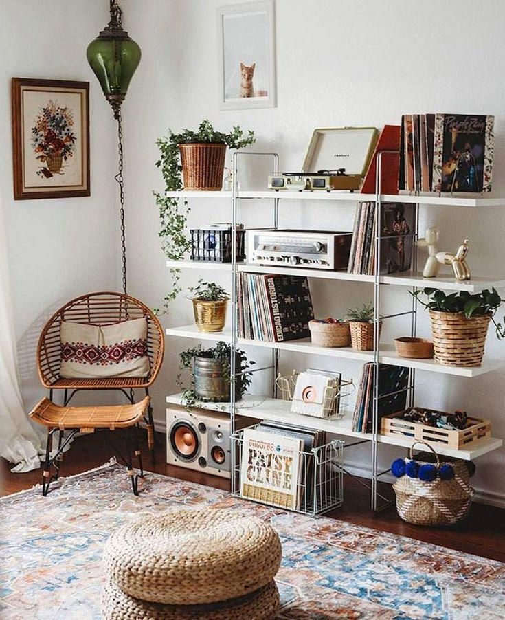 - A mix of mid-century modern, bohemian, and industrial interior style. Home and apartment decor, decoration ideas, home design, bedroom, living room, dining room, kitchen, bathroom, office, simple, modern, contemporary, boho, bohemian, beach style, industrial, rustic, DIY project inspiration, furniture, bed, table, chair, architecture, building, interior, exterior, lighting #bohoHomeDecor #lightbedroom