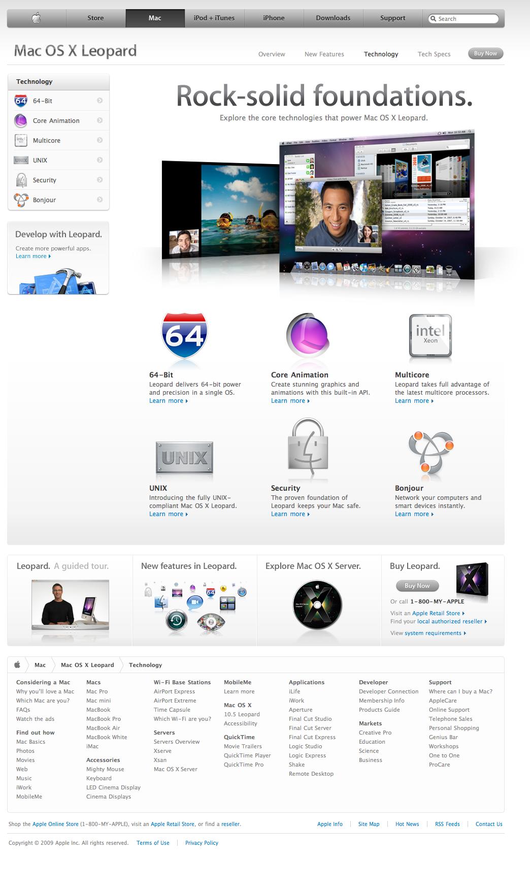 Apple - Mac OS X Leopard - Technology (08 01 2009) | Apple com sick