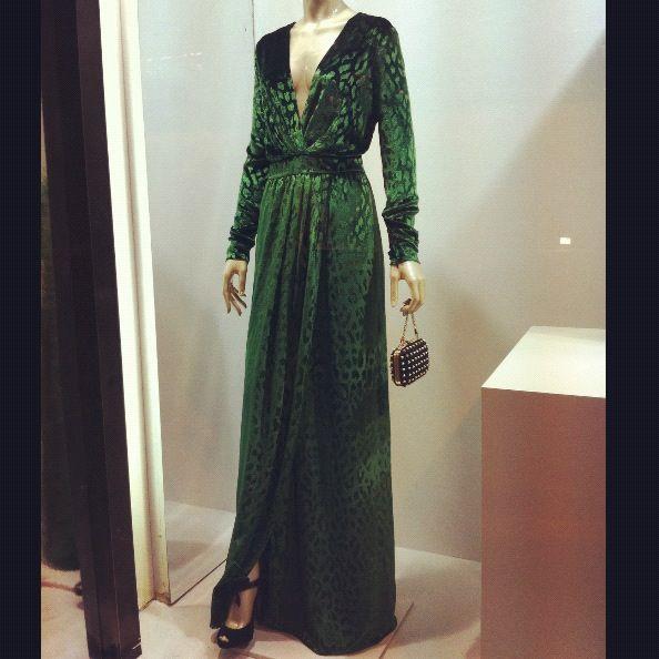 d1d305d71c605 Gucci green velvet dress