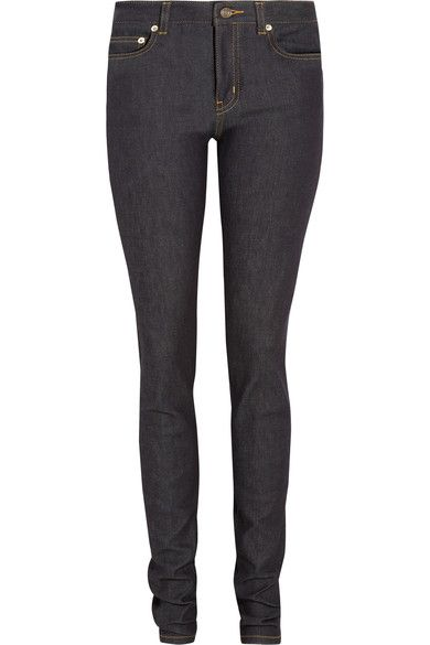 857626886b8 Saint Laurent - Mid-rise Skinny Jeans - Dark denim | Products ...