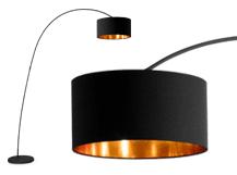 Sweep staande lamp matzwart en koper lights in