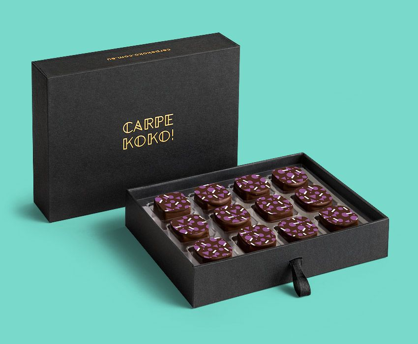 Carpe koko coffee confession 12 piece chocolate gift box buy coffee confession 12 piece chocolate gift box buy online for delivery negle Image collections