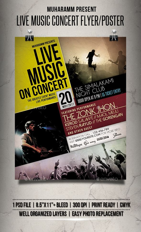 Pin by Cool Design on Flyer Design Concert flyer, Concert posters