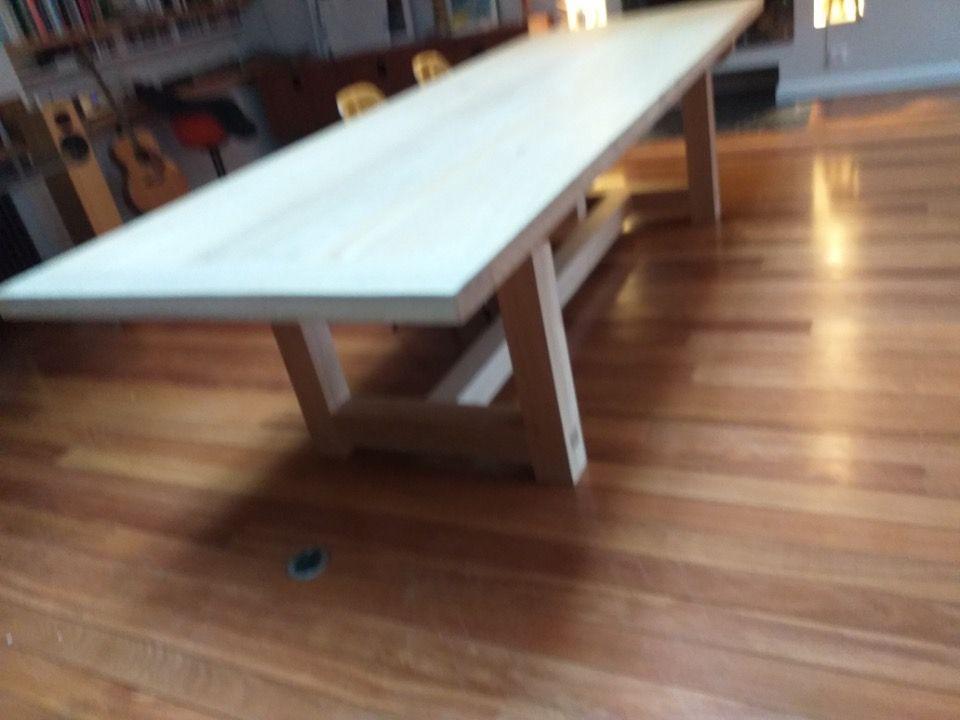 Belle Table Sur Mesure En Chene Massif Table De Repas Table Bois Massif Table Et Table Bois