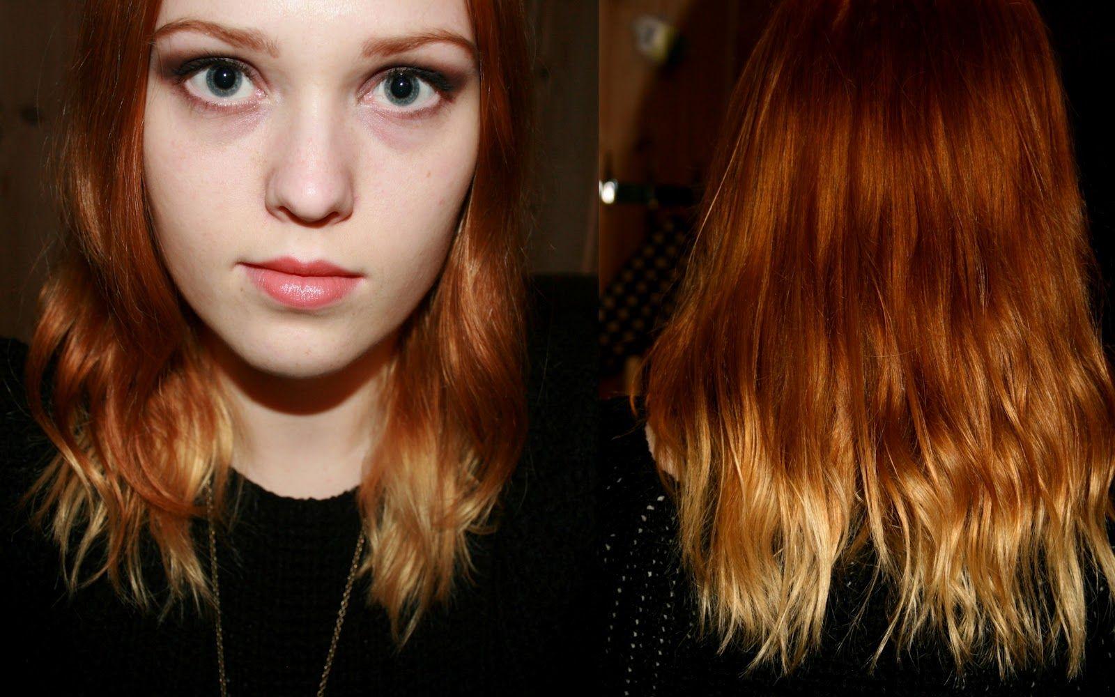 Some Random Stuff Ginger Blonde Hair Blonde Dip Dye Blonde