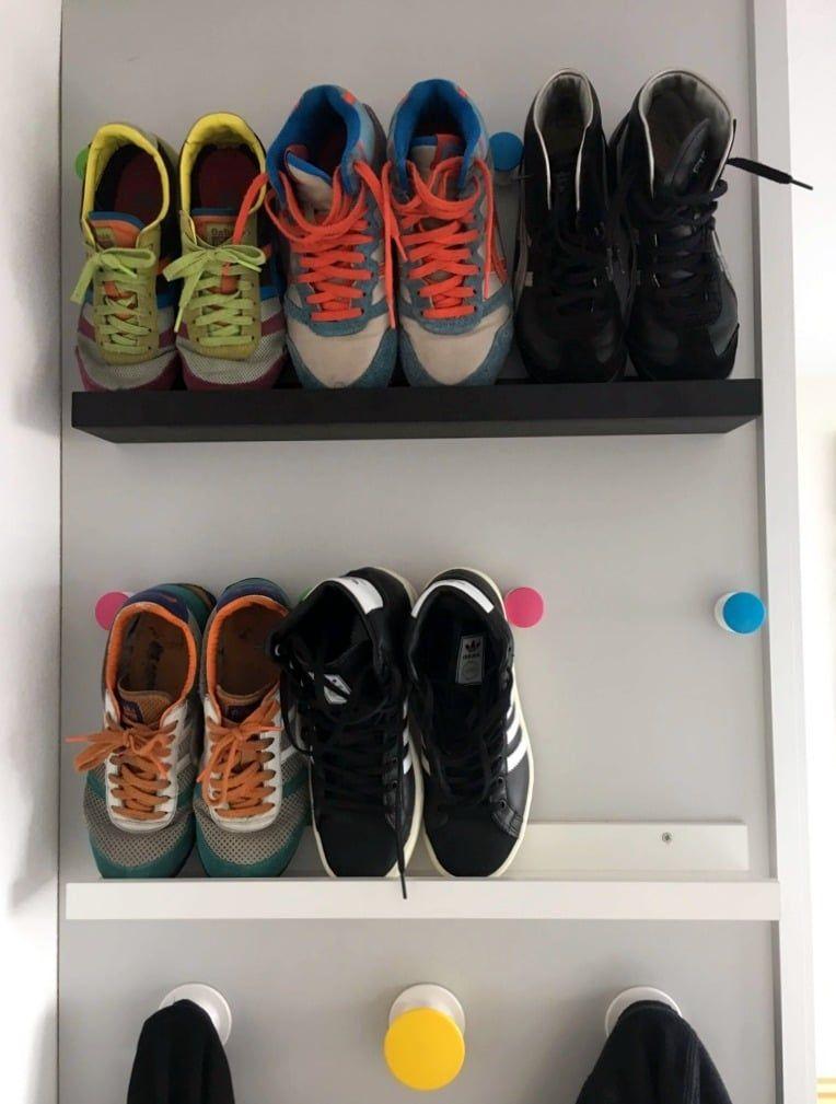 Shoe shelf for small spaces - IKEA Hackers