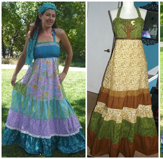 e4e7f91d72b6b Patchwork Hippie Spinner Dress | Phatcatpatch on Etsy( me) | Dresses ...