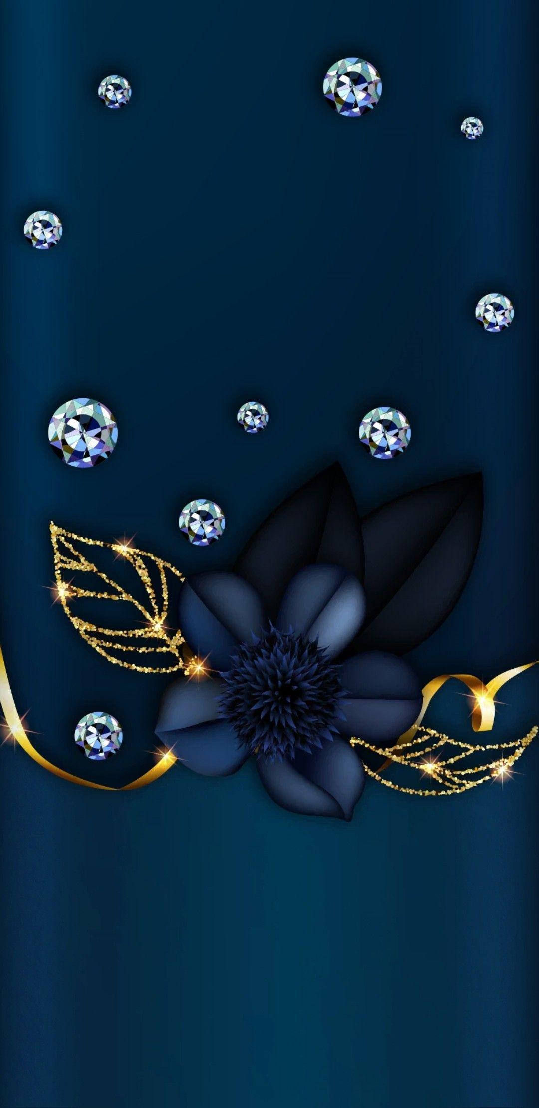 Bling Wallpaper, Luxury Wallpaper, Heart Wallpaper, Wallpaper Backgrounds, Blue Wallpapers, Wallpaper