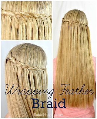 Wrapping Feather Braid Hairstyle (Babes In Hairland)