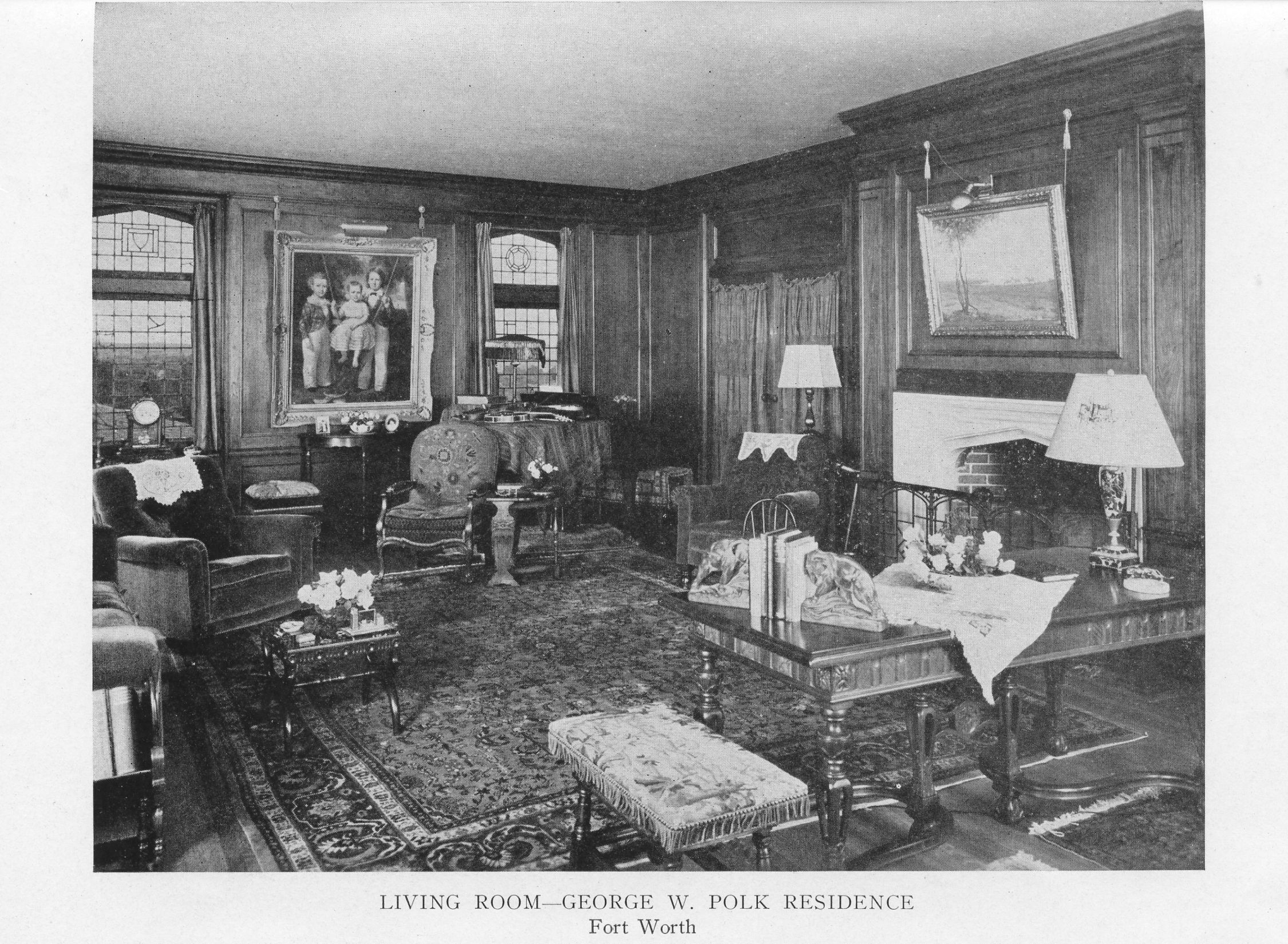 Charming Living Rooms Ca 1920