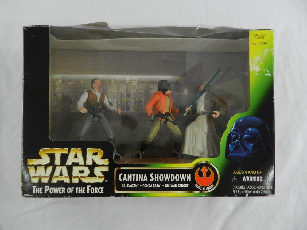 New Star Wars The Power of the Force Cantina Showdown Kenner Hasbro 1997 NIB Box…
