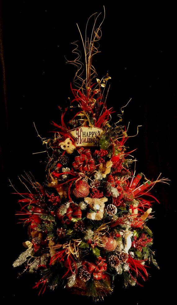 Lighted Woodland Christmas Tree,Woodland Animal Decorations,rustic