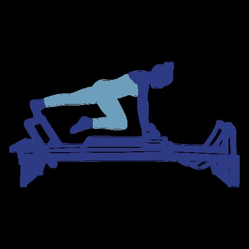 Pilates Reformer Leg Stretch Silhouette Ad Reformer Pilates Stretch Silhouette Leg In 2020 Pilates Reformer Pilates Pilates Logo