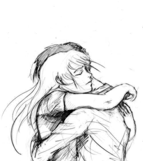 Images For - Couple Drawings Hugging
