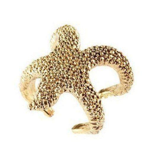 Fun Starfish Ring - Gold