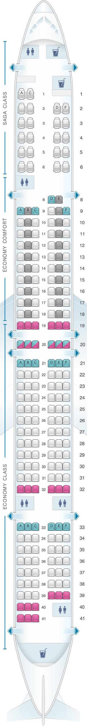 Seat map icelandair boeing  also pinterest rh