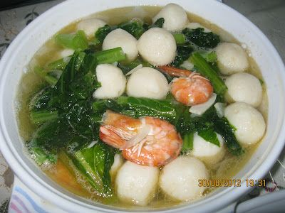 Sup Sawi Fishball 2 Pohon Sawi Potong2 1 Bungkus Fishball Dalam 12 Biji Fishball 1 Cawan Udang 2 Cawan Air 3 Ul Makanan Sehat Resep Makanan Memasak