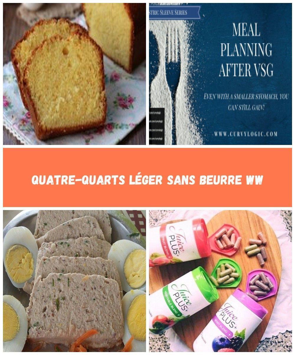 Le quatre-quarts d'origine est une recette simple avec, comme son nom l'indique, 1/4 de farine, 1/4 d'œuf, 1/4 de sucre en poudre, et 1/4 de beurre. Cette version est un peu différente, et très légère, elle est sans beurre! Voici la recette du quatre-quarts léger sans Beurre WW. Ingrédients pour 8 parts: – 3 SP … liquid diet Quatre-quarts Léger Sans Beurre WW #quatrequart Le quatre-quarts d'origine est une recette simple avec, comme son nom l'indique, 1/4 de farine, 1/4 d� #quatrequart