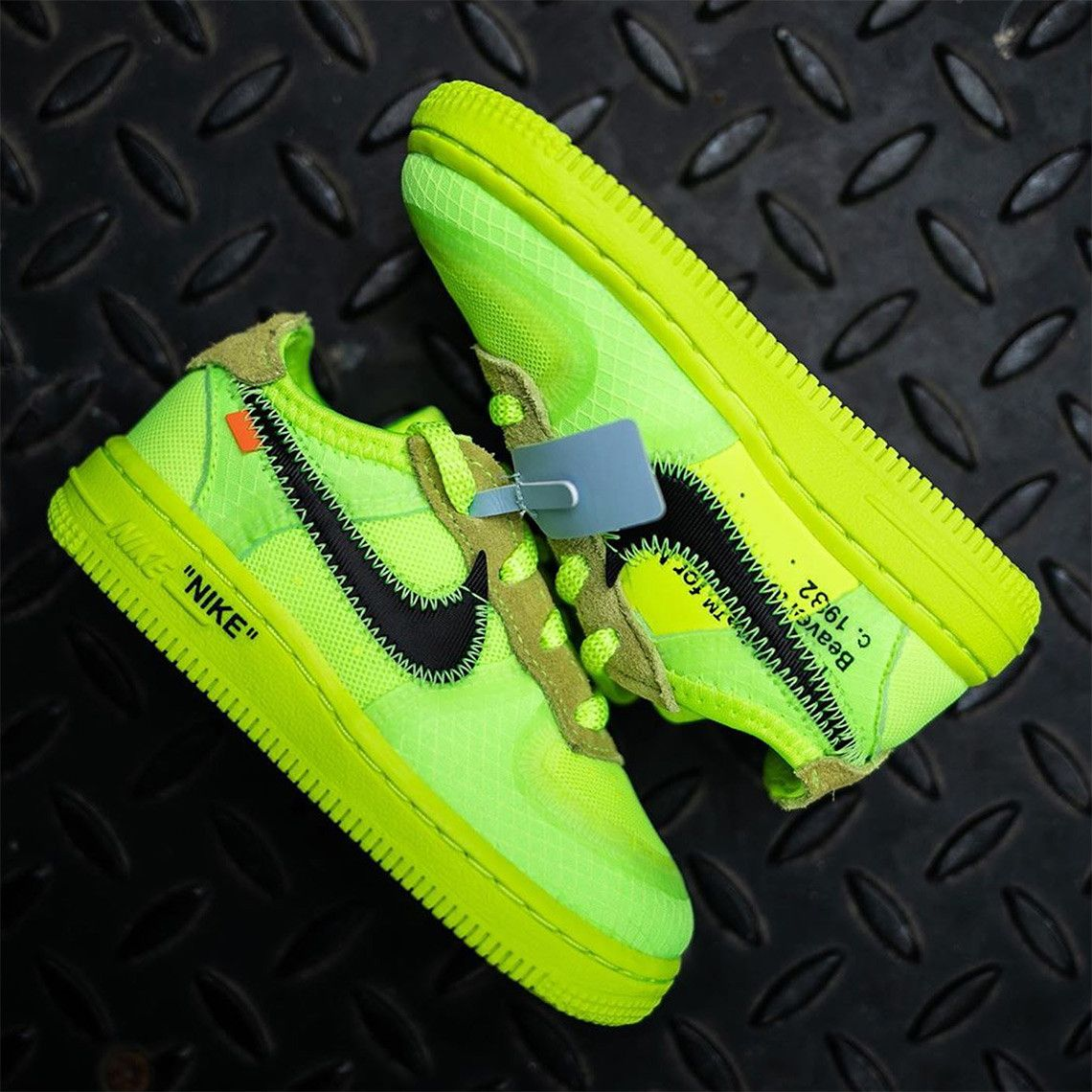 Off White Nike Air Force 1 Volt Toddler Release Info Sneakernews Com Nike Air Force Nike White Nikes