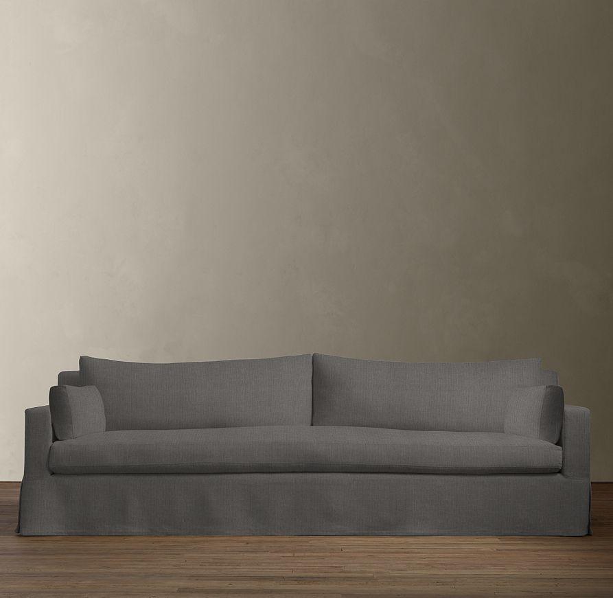 Belgian Track Arm Slipcovered Sofa Sofa Slipcovers