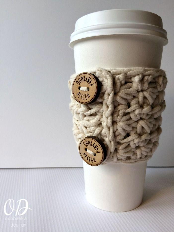 Starry Night Slip-on Cup Cozy   Tejidos   Pinterest   Croché ...